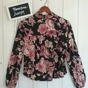 Black Lucky Brand Floral Tunic - Small